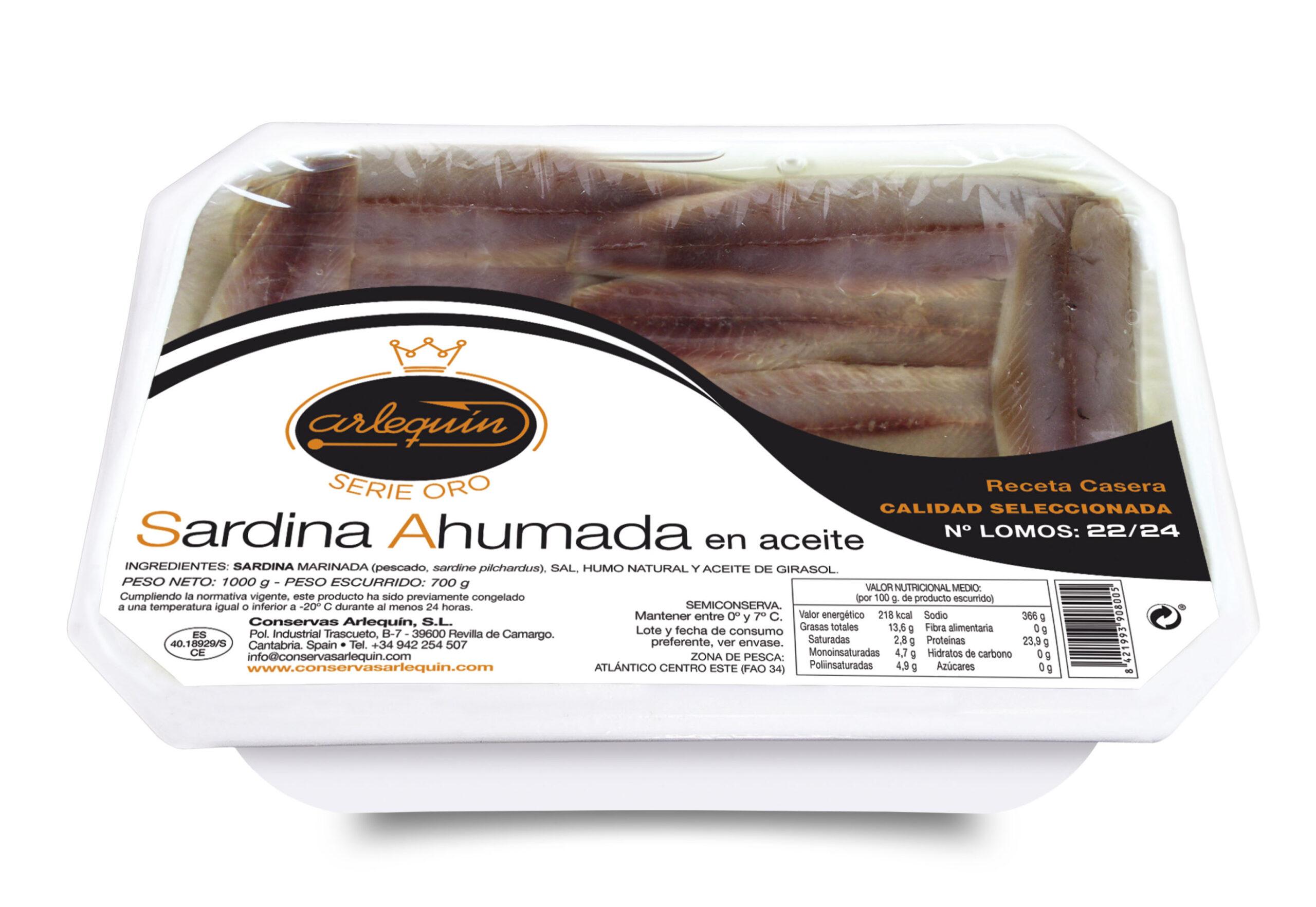Sardina Ahumada - Arlequín Serie Oro