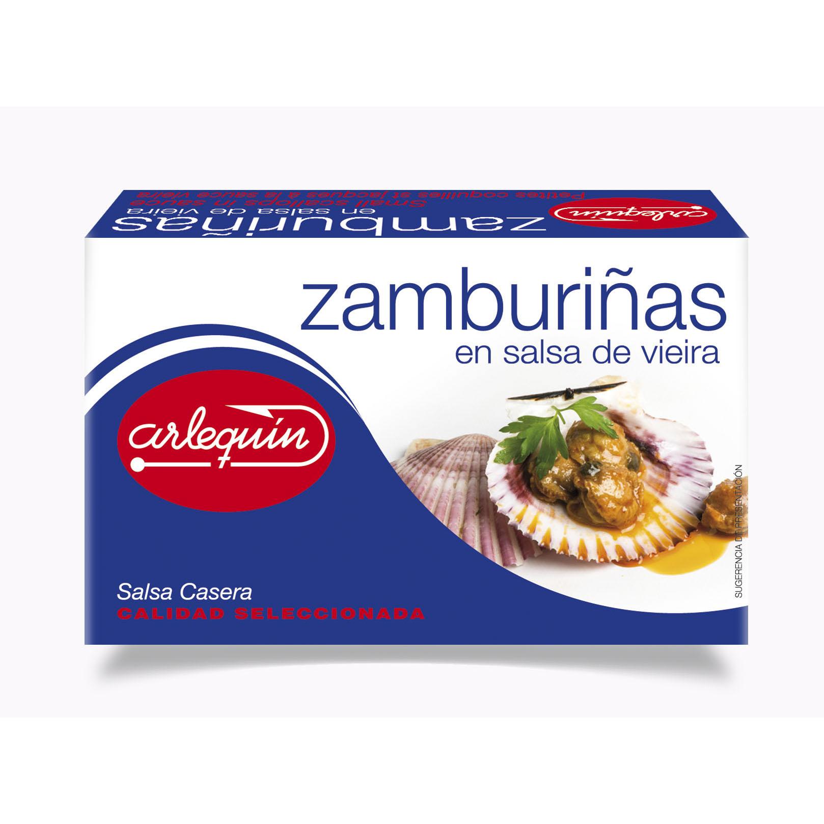 Zamburiñas en salsa de Vieira - Conservas Arlequín